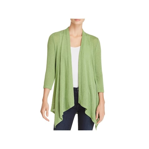 Status by Chenault Womens Cardigan Top Knit Open Front