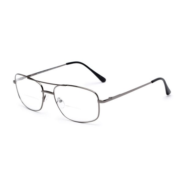 Readers.com The Stenson Bifocal Aviator Reading Glasses. Opens flyout.