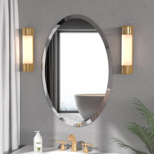 KOHROS Modern Oval Wall Mounted Bathroom Mirror. Opens flyout.