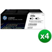 HP 410X Black Original LaserJet Toner Dual Cartridge (CF410XD)(4-Pack)