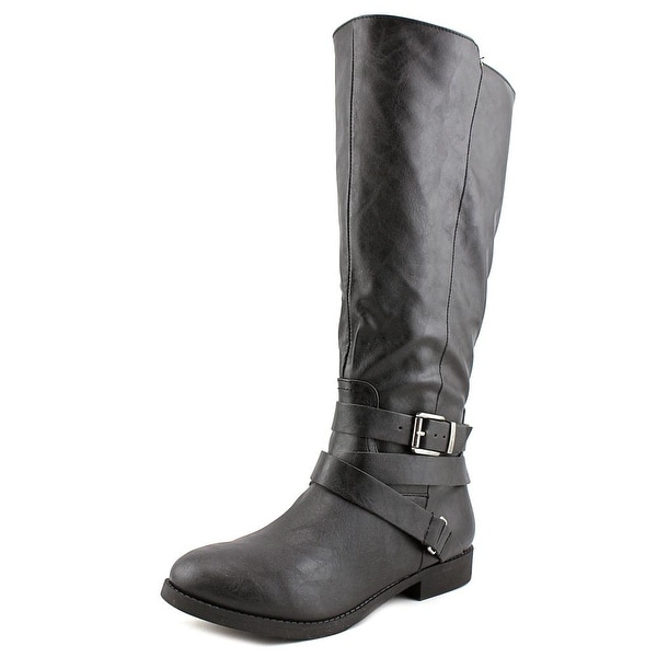 Style & Co Lolah Wide Calf Women Round Toe Synthetic Black Knee High Boot