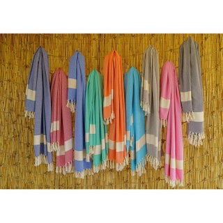 Swan Comfort Turkish Towel Peshtemal for Beach Spa Bath Pool Sauna Fitness (Option: Beige)