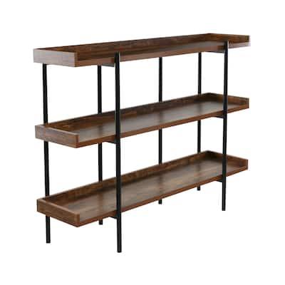 OneSpace Modern Etagere Wood and Steel 3-shelf Display