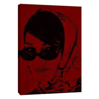"""PTM Images 9-105335  PTM Canvas Collection 10"""" x 8"""" - """"Girl A1"""" Giclee Audrey Hepburn Art Print on Canvas"""