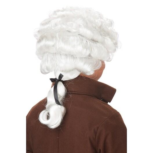 Child Colonial Peruke Wig Gray