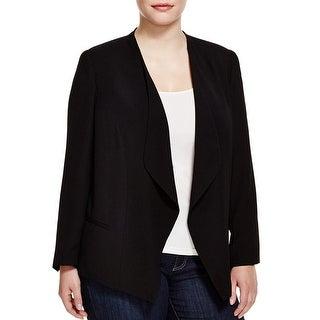 Vince Camuto Womens Plus Blazer Drape Front Long Sleeve