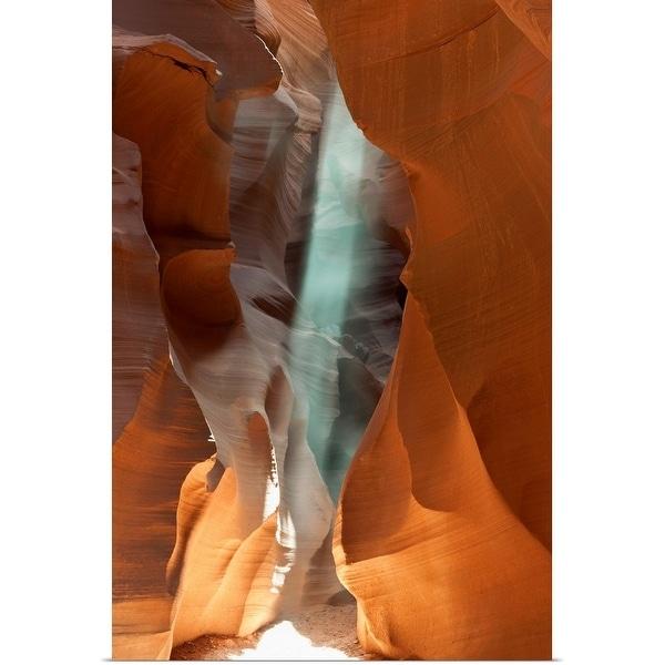 """Light streaming through rocks, Antelope Canyon, Page, Arizona, USA"" Poster Print"