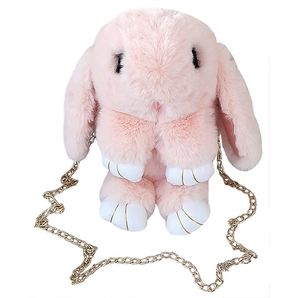 QZUnique Womens Shoulder Bag Handbag Crossbody Packet Chain Cartoon Sweet Lovely Candy PVC Pink