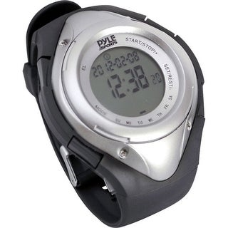 Pyle pro phrm38sl heart rate monitor watch with minimum, average & maximum heart rate (silver) - Silver