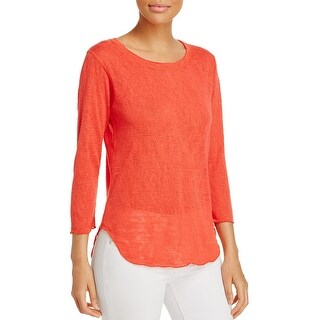 Nally & Millie Womens Pullover Sweater Knit 3/4 Sleeves