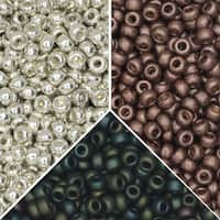 Exclusive Beadaholique Designer Palette, Miyuki Seed Bead Mix, Round 11/0, 71 Grams, Sequoia