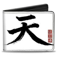 Akuma Symbol White Black Red + Street Fighter Assassin's Fist Bi Fold Wallet - One Size Fits most