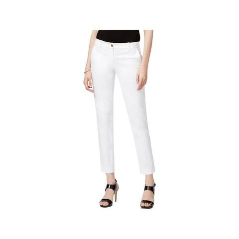 MICHAEL Michael Kors Womens Petites Casual Pants Flat Front Stretch