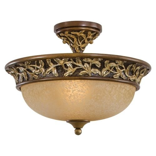 "Minka Lavery ML 1568 3 Light 11.25"" Height Semi-Flush Ceiling Fixture from the Salon Grand Collection"