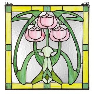 Design Toscano Glasgow Basket Tiffany-Style Stained Glass Window