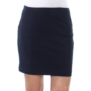 Womens Navy Above The Knee Sheath Wear To Work Skirt Juniors Size 1