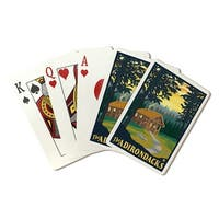 The Adirondacks - Cabin in the Woods - LP Artwork (Poker Playing Cards Deck)