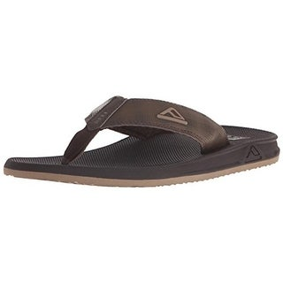 Reef Mens Phantom II Textured Thong Flip-Flops - 7 medium (d)