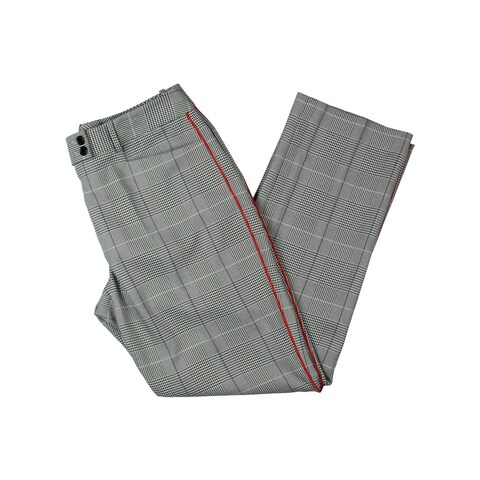 Tahari ASL Womens Petites Dress Pants Glen Plaid Piped - 8P