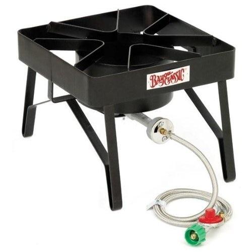 Bayou Classic SQ84 Single Burner Patio Stove - Black