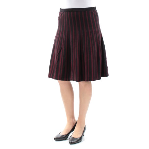 Womens Maroon Striped Casual Skirt Size M