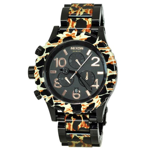 Nixon Men's '42-20 Chrono' All Black/Leopard Watch