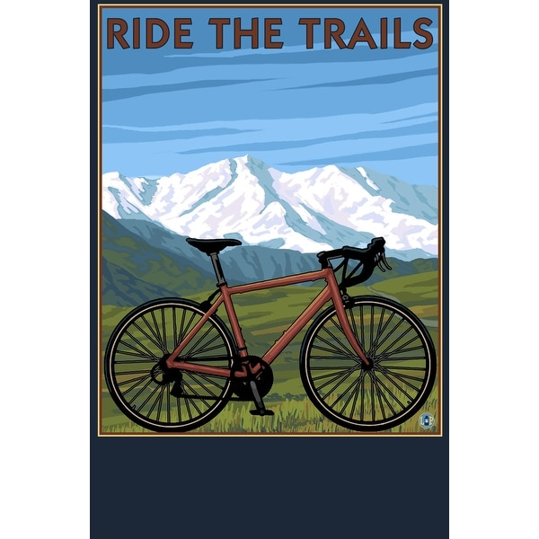 Bicycle (Mountains) - LP Artwork (100% Cotton Towel Absorbent)