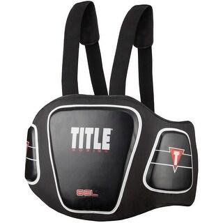 Title Boxing Gel Blunt Force Hook and Loop Body Protector - Black