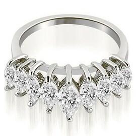 1.75 cttw. 14K White Gold Marquise Diamond Prong Wedding Band