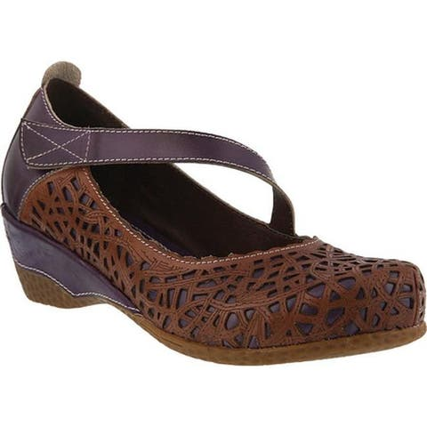L'Artiste by Spring Step Women's Melinda Mary Jane Purple Multi Leather