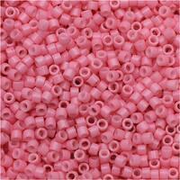 Miyuki Duracoat Delica, Japanese 11/0 Seed Beads, 7.2g Tube, Opaque Carnation Pink DB2117