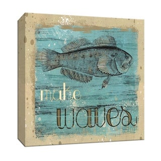"""PTM Images 9-146744  PTM Canvas Collection 12"""" x 12"""" - """"Make Waves"""" Giclee Sayings & Quotes Art Print on Canvas"""