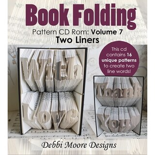 Debbi Moore Cd Rom Book Folding Patterns-Volume 7, 16 Two-Liner Designs
