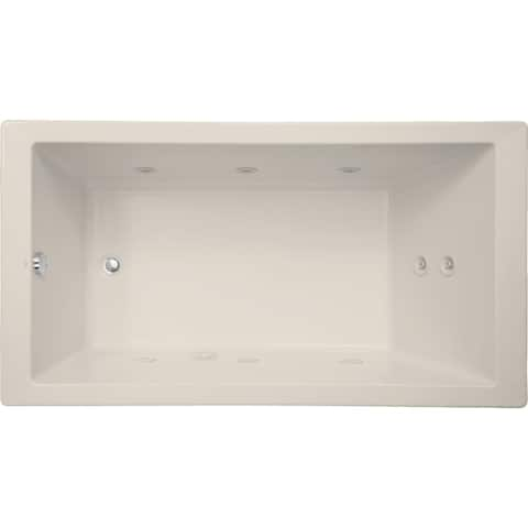 "Mirabelle MIRSKW6636 Sitka 66"" X 36"" Acrylic Whirlpool Bathtub for Drop In or Undermount Installations with Reversible Pump and"