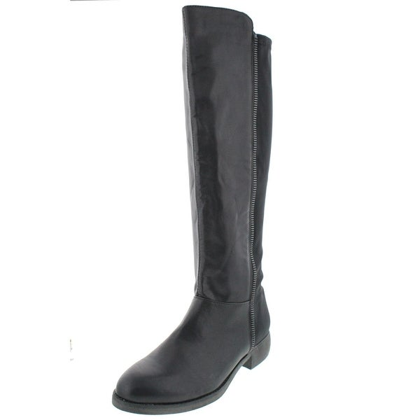 Mia Womens Carolyn Over-The-Knee Boots Faux Leather Zipper Trim