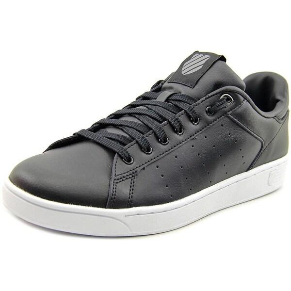 K-Swiss Clean Court CMF Women Round Toe Leather Black Tennis Shoe