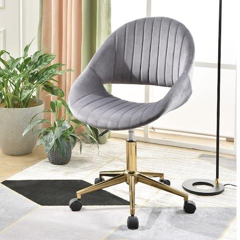 OVIOS Cute Desk Chair Plush Velvet Office Chair for Home or Office,Modern,Comfortble Nice Task Chair for Computer Desk