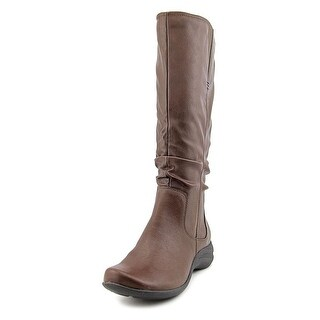 Hush Puppies Feline Alternative Women Round Toe Synthetic Brown Mid Calf Boot
