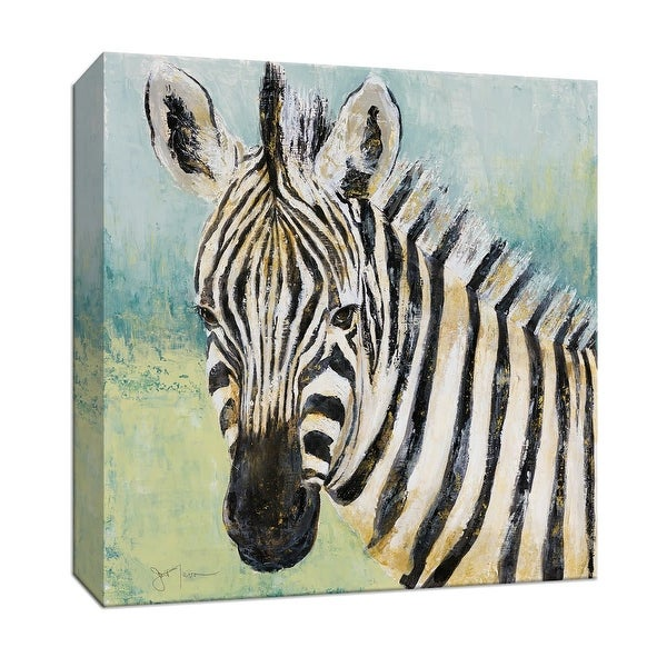 """PTM Images 9-147818 PTM Canvas Collection 12"""" x 12"""" - """"Painterly Zebra"""" Giclee Safari Animals Art Print on Canvas"""