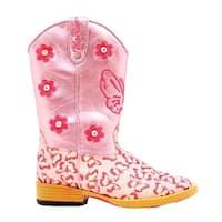 Blazin Roxx Western Boots Girls Pecos Kids Glitter Zip Pink