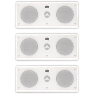 Acoustic Audio AA35CW Indoor 3 Way Speakers 1200W White 3 Speaker Set AA35CW-3S