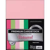 """Botanical - Smooth - Core'dinations Value Pack Cardstock 8.5""""X11"""" 50/Pkg"""