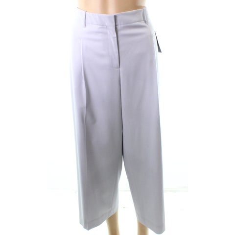 Lafayette 148 Gray Women's Size 8X24 Crop Dress Pants Wool Stretch