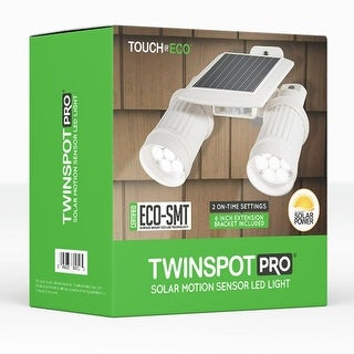 TWINSPOT PRO Solar Motion Sensor Dual Head LED Spotlight In White