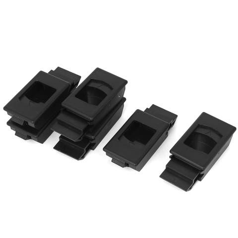 Black Plastic Window Door Cabinet Inside Sliding Pull Latch Fittings 6pcs