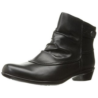 Rockport Womens Veronica Ankle Boots Leather Gathered - 6.5 medium (b,m)