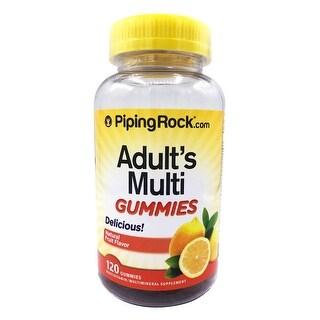 Piping Rock Adult's Multi Gummies Natural Fruit Flavor (120 Gummies)