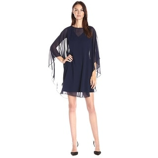 Vince Camuto Flutter Chiffon Overlay Cocktail Dress - 4