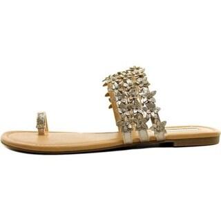 INC International Concepts Womens Linaa Open Toe Toe Strap Slide Flats - 9.5
