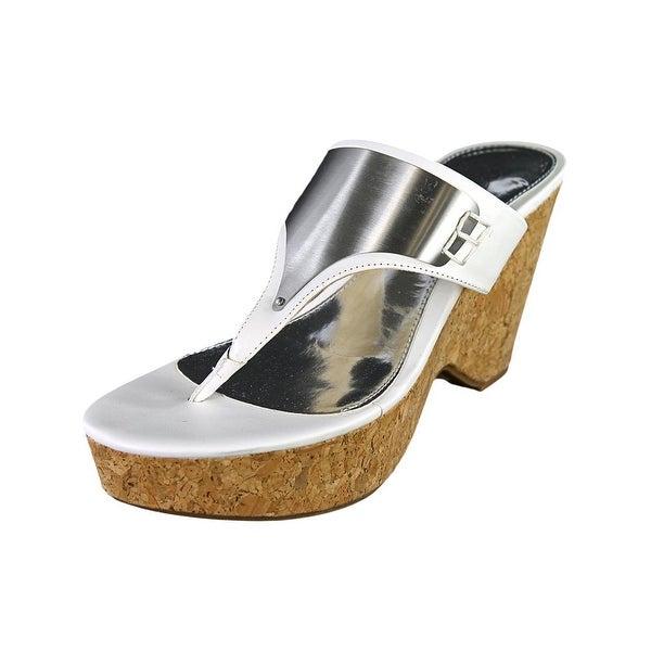 Fergie Isis Women Open Toe Canvas White Sandals